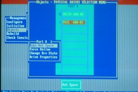 LSI 1068E Ctrl+M快捷键阵列卡多块硬盘掉线及处理步骤